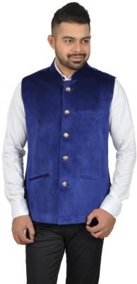 Studio S by Shikkha Sleeveless Solid Men's Jacket