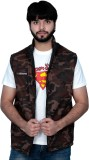 Absurd Sleeveless Solid Men's Quilted Ja...