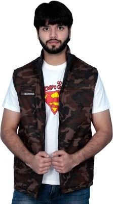 Absurd Sleeveless Solid Men's Quilted Jacket