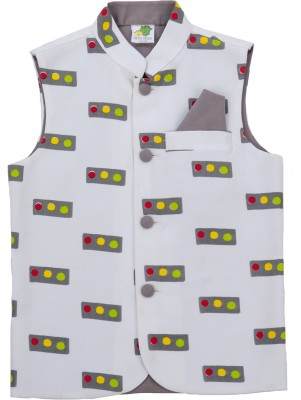 Little Stars Sleeveless Printed Baby Boys Jacket