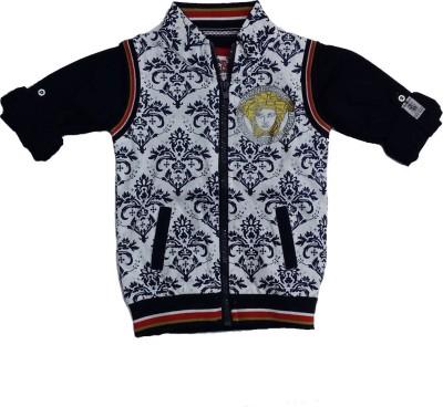 Pogo Half Sleeve Printed Boy's Jacket