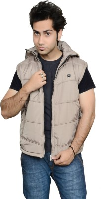 Burdy Sleeveless Solid Men's Fur Jacket