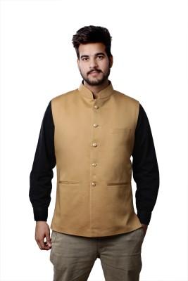 Veera Paridhaan Sleeveless Solid Men's Jacket