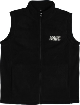 Never Ever Give In Sleeveless Solid Men's Jacket