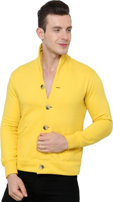 Casual Tees Full Sleeve Solid Mens Fleece Coat Jacket