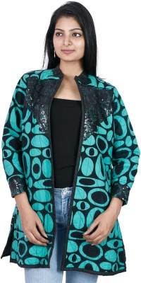 Pamposh Creations 3/4 Sleeve Self Design Women's Jacket