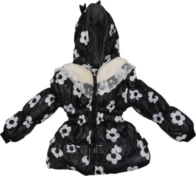 Addyvero Full Sleeve Floral Print Girl's Jacket