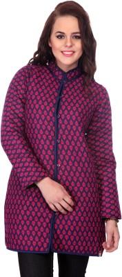 Lavennder Full Sleeve Printed Women's Quilted Jacket
