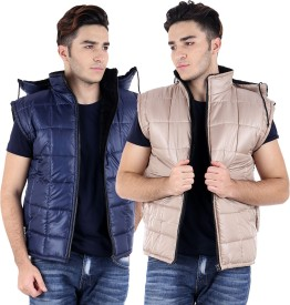 Candy House Sleeveless Solid Men's Jacket