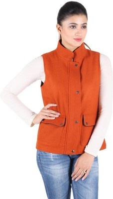 Owncraft Sleeveless Solid Womens Bomber Jacket