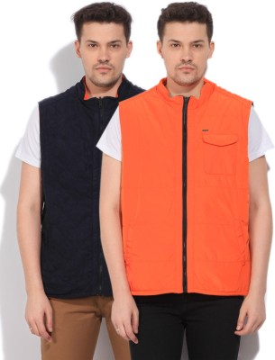 Arrow Sleeveless Striped Men's Quilted Jacket