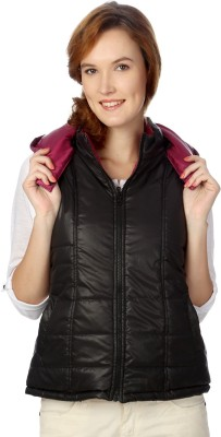 People Sleeveless Solid Women's Quilted Jacket