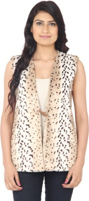 Eighteen4ever Sleeveless Animal Print Women's Casual Jacket