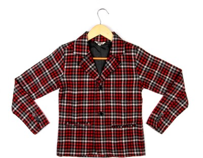 People Full Sleeve Checkered Boys Jacket