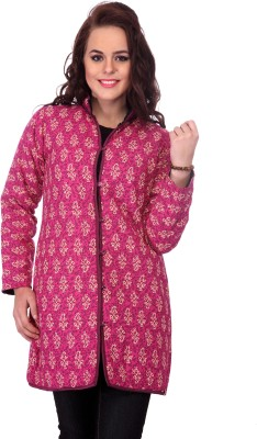 Lavennder Full Sleeve Printed Women's Quilted Jacket