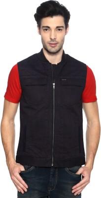 Van Heusen Sleeveless Solid Men's Quilted Jacket