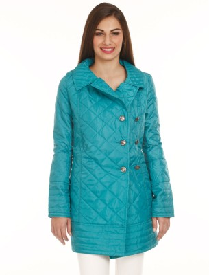 Mustard Full Sleeve Solid Women's Quilted Jacket