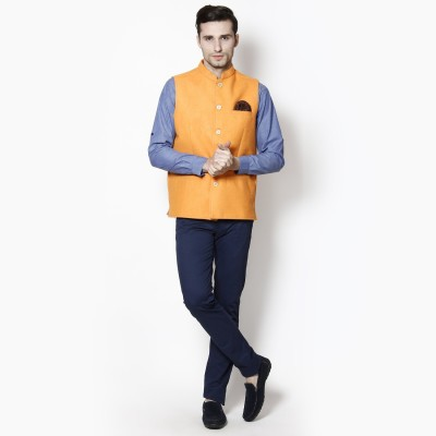 Even Sleeveless Solid Men's Jacket