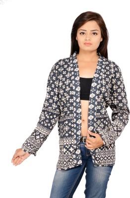 REME Full Sleeve Geometric Print Women's Jacket