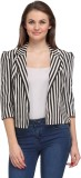 Fashionwalk Striped Women's Jacket