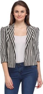 Fashionwalk 3/4 Sleeve Striped Women's Jacket