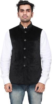 Adam In Style Sleeveless Solid Men's Jacket
