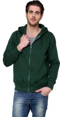 Casual Tees Full Sleeve Solid Mens Fleece Jacket