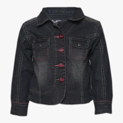 Tales & Stories Full Sleeve Solid Girl's Denim Jacket