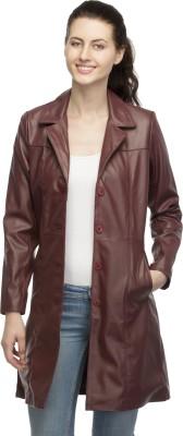 Lambency Full Sleeve Solid Women,s Long Jacket