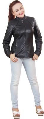 Monika Full Sleeve Solid Women's Sheep Leather Jacket