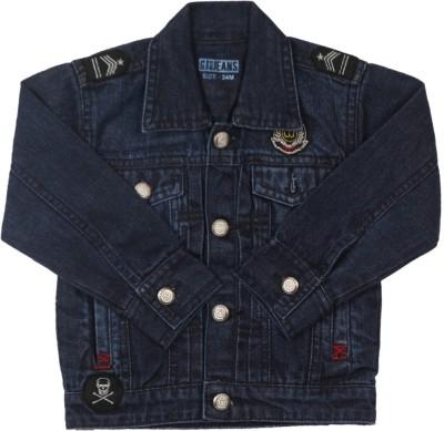 Gini & Jony Full Sleeve Solid Baby Boys Denim jacket