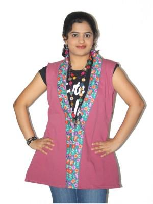 Lolaski Sleeveless Embroidered Women's Denim Jacket