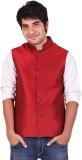 Hriday Sleeveless Solid Men's Nehru Jack...
