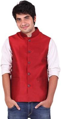 Hriday Sleeveless Solid Men's Nehru Jacket Jacket