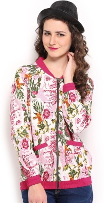 Anouk Full Sleeve Floral Print Women's Quilted Jacket at flipkart