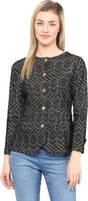 TheGudLook Full Sleeve Printed Women's Peplum Jacket