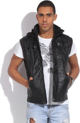 Fort Collins Sleeveless Self Design Men's Quilted Jacket