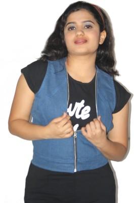 Lolaski Sleeveless Solid Women's Denim Jacket