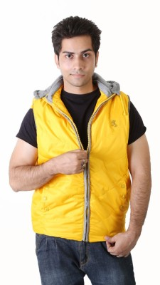 NOMKLER Sleeveless Solid Men's Jacket