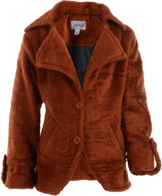 Toddla Full Sleeve Solid Girl's Jacket