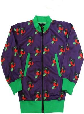 Lucero Full Sleeve Printed Boy's Fleece Jacket