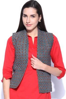 Fabindia Sleeveless Printed Women's Jacket