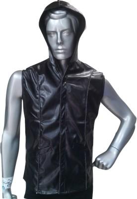 V-Mens Sleeveless Solid Men's Jacket