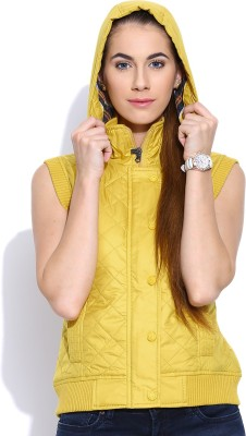 Oner Sleeveless Self Design Women's Jacket