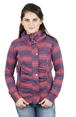 Kaaf Fashion Full Sleeve Striped Women's Jacket