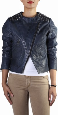 Theo&Ash Full Sleeve Solid Women's Cropped Jacket