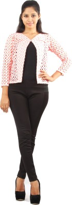 Aggana 3/4 Sleeve Self Design Women's Jacket
