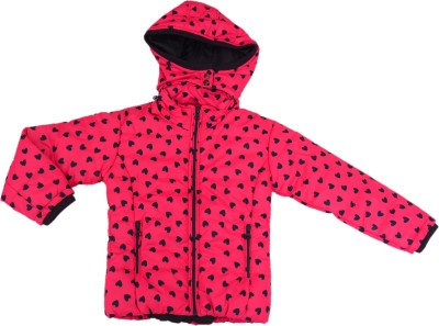 612 League Full Sleeve Printed Girl's Quilted Jacket