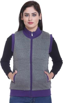 CLUB YORK Sleeveless Solid Women's Jacket at flipkart