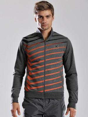 HRX by Hrithik Roshan Full Sleeve Striped Men's Jacket